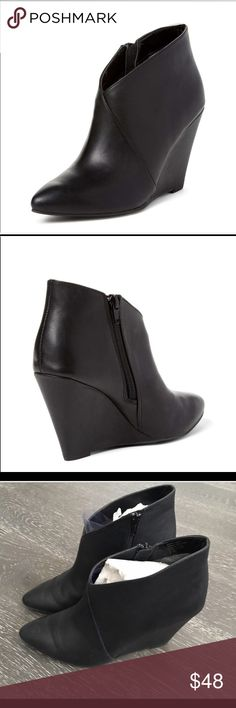 Seychelles black wedge bootie Seychelles black wedge bootie close to perfect condition, never worn outside the house Seychelles Shoes Ankle Boots & Booties