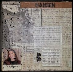 Letters and memorabilia used in an encaustic collage with a family history theme. by Anjuli Johnson