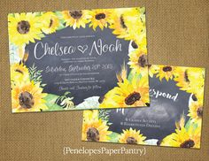 Rustic Sunflower Wedding by PenelopesPaperPantry on Etsy