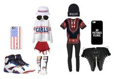 """""""his n hers outfit to a football game or something"""" by loveme-dxx ❤ liked on Polyvore featuring Cheap Monday, Chicnova Fashion, Stance, HUF, Brian Lichtenberg, Casetify and 3.1 Phillip Lim"""