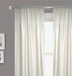 "Rodeo Home Newbury Two Panel Drapery-54""x90"" - IVORY by RODEO HOME, http://www.amazon.com/gp/product/B004VH22YK/ref=cm_sw_r_pi_alp_SFY9qb0THP62H"