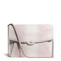 The Madison Ipad Crossbody In Lizard Embossed Leather from Coach
