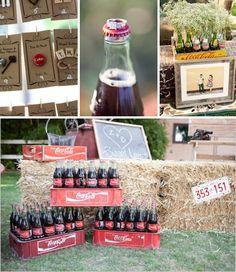 Coca Cola wedding idea? I like the old crates and have a toast!