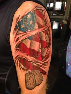 34 best patriotic tattoos military images on pinterest military tags american flag tattoos patriotic tattoos publicscrutiny Image collections
