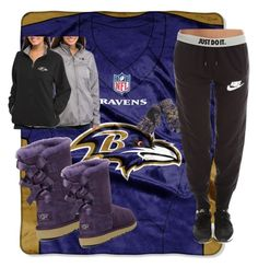 """Game day 😈"" by m-aeb on Polyvore featuring The Northwest Company, Forever Collectibles, NIKE and UGG Australia"