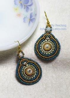 Nile Earrings by bybeejang on Etsy