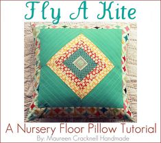 Fly a Kite Pillow by @Maureen Cracknell:)