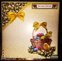 Made using the Hunkydory Step Into Springtime Kit Chicken & Eggs Easter Decoupage Card