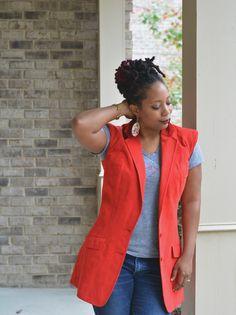 thrifting blogs, fall fashion, diy vest, diy fall ready sleeveless coat tutorial, tutorial to convert a thrift store coat into a sleeveless coat