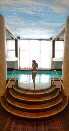 Inside or Out? This Pool Will Throw You For A Loop. Featured at the Alvear Palace Hotel, Buenos Aires  www.theroadlestraveled.com