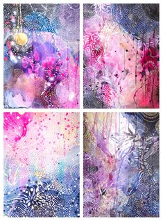 Unique abstract art painting with texture and patterns and negative space make a very cool painting. #abstractart