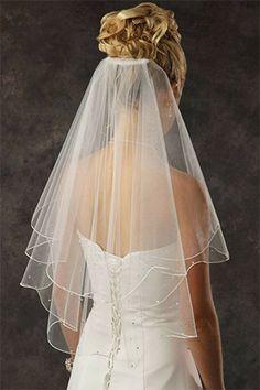 All Hail the Wedding Veil! Angel Cut / V cut