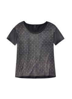 talula mott t shirt a soft as vintage tee polka dotted