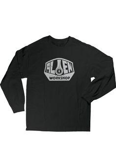 Alien-Workshop OG-Logo, Longsleeve, black Titus Titus Skateshop #Longsleeve #MenClothing #titus #titusskateshop