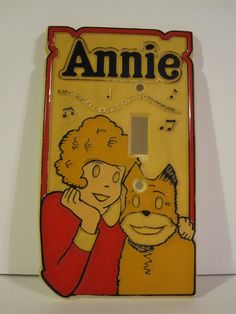Vintage 1981 Sears Little Orphan Annie Tribune Company Light Switch Plate