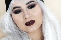 dark and bold eyes and lips make up look on asian eyes @muamadbk
