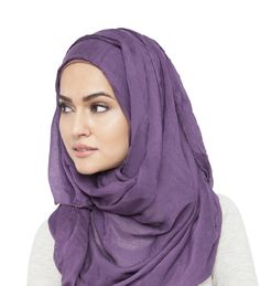 GRAPE COTTON HIJAB
