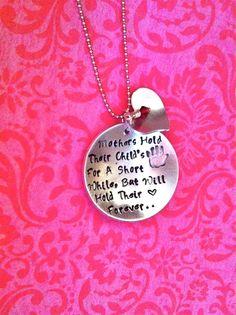 NEWA Child's HeartHand Stamped Necklace by DarkChocolateNTulips, $42.00