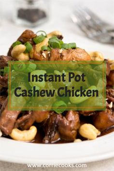 This Instant Pot Cashew Chicken is just as good as your favorite Chinese restaurant. It is super easy to make, flavorful, and can be made in the comfort of your home.  The Instant Pot pressure cooker will ease the process of the cooking while making the chicken juicy and tender. Great chicken recipe for beginners!