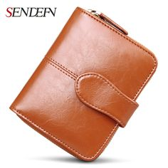 Sendefn 짧은 여성 가죽 지갑 쉽게 캐리 여성 지갑 패션 달러 가격 카드 홀더 여성 지갑 여성 지갑