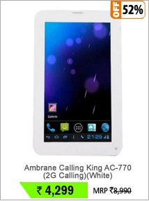Ambrane Calling King AC-770 (2G Calling)(White)