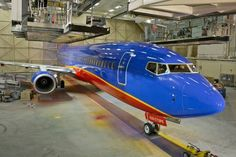 Southwest in hanger