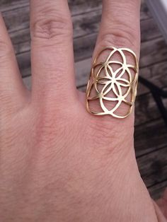 Hey, I found this really awesome Etsy listing at https://www.etsy.com/listing/130893491/seed-of-life-ring-in-solid-brass-sacred