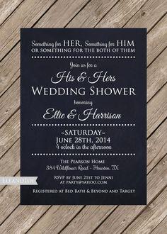Couples or Coed Wedding Shower Printable by LeeandLoe on Etsy