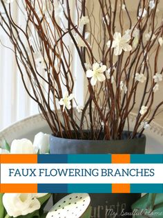 If you love the look of flowering branches, try making some for your home! It will feel like spring is in full bloom.