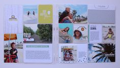 Pages created by Mindi Niebuhr, featuring the Midnight Edition Core Kit, September Skies Core Kit, and Moments Like These Card Collection