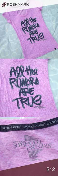 Victoria's Secret top size medium Brand- Victoria's Secret--- EUC women's top size medium. Worn once and washed once- perfect condition and super cute!! Super model essentials- Victoria's Secret Tops Blouses