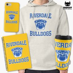 'Riverdale Bulldogs' design inspired by the new American teen drama television series based on the characters by Archie Comics. #Riverdale #RiverdaleBulldogs #GoBulldogs #Hoodie #PhoneCase #Mug #Notebook