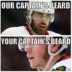 Detroit Red Wings (C) Henrik Zetterberg. Sorry not sorry Chicago Black hawks (C) Johnny Toews. Detroit Hockey, Detroit Sports, Red Wings Hockey, Hockey Memes, Nhl News, Go Red, Hockey Girls, Ice Hockey, Kings Hockey