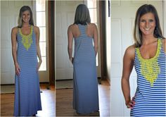 Love this dress. I received a similar tank in my last fix, but it was a little too big.  I like the maxi dress!