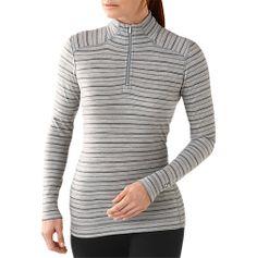 Women's Merino Wool Midweight Pattern Zip T - ShepsSports.com