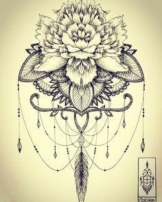 #peony #missvoodoostyle #missvoodooinspired #ornamental #ornament #ornamenttattoo #ornamentaltattoo #tatouage #tattoo #feathers #plume #peony #rose #flower #poetic #romantic #romantique #feminine #pokihaillustrations #pokihatattoo #Pokiha #leaves #mandala #hennah #embroidery #dentelle #lacetattoo #lace #fine #fin