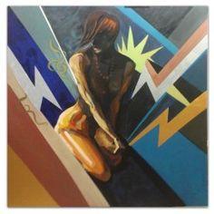 Original acrylic painting By. Gallery Funk Art, Denmark  150x150 cm