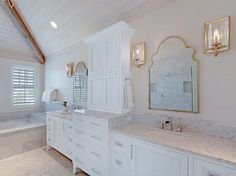 The Dreamiest Coastal Home in Seagrove Beach - White Marble Bathroom