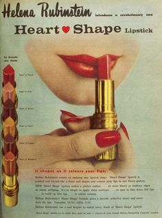 What a glamorous lipstick from 1960