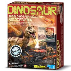 Kids who love dinos will ahve great fun with this Velociraptor Excavation Kit