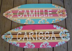 27 inch Personalized Hibiscus Surfboard Wall art Beach Sign . 150 Designs and 3 sizes.