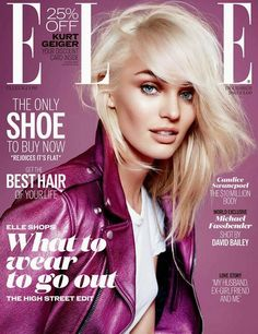 Victoria's Secret Angel Candice Swanepoel covers Elle UK December 2013 Issue in Saint Laurent by Kai Z Feng Fashion Magazine Cover, Fashion Cover, Elle Magazine, Star Fashion, Magazine Covers, Pink Fashion, Magazine Stand, Cosmopolitan Magazine, Women's Fashion