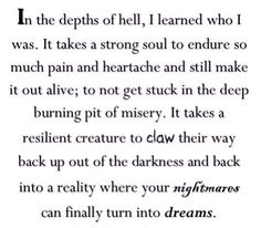 A bit dramatic but it does resonate with me...