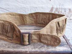 vintage c. 1940s50s canvas cartridge belt // by MouseTrapVintage, $42.00