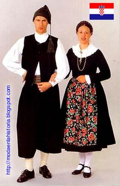 Island Krk, Croatia - The dress costume from the town of Baška. Folk Costume, Costume Dress, Folklore, Ukraine, Costumes Around The World, Culture Clothing, Beautiful Costumes, Ethnic Fashion, World Cultures