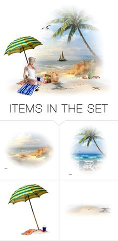 """Picnic On The Beach"" by chileez ❤ liked on Polyvore featuring art"