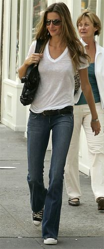 White T, jeans and converse