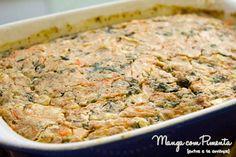 Torta Integral de Espinafre, receita maravilhosa para você fazer para o seu almoço durante a semana. Clique na imagem para ver o modo de preparo do blog Manga com Pimenta.