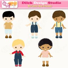 Cute Dilek My Little Boy Friends clipart perfect for your craft project, scrapbooking, invitation, web design, paper product, design card and everything else.  Great for cute announcements web store fronts, blog design or simple enough for embroidery