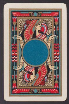 Single Reversible Egyptian Lady Gold Turquoise Vintage Swap Playing Card | eBay